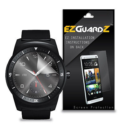 3X EZguardz Screen Protector Skin Cover Shield HD 3X For LG G Watch R (Clear)