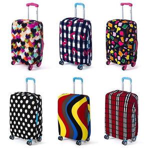 Kofferbezug-elastische-Kofferhuelle-Reise-Koffer-Schutz-Bezug-Huelle-mit-Muster