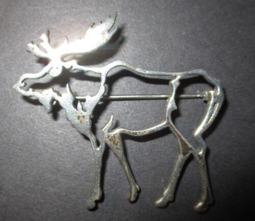 Belinda Woody Sterling Silver Moose Brooch