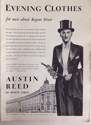 Austin Reed Of Regent Street Evening Clothes 1937 Vintage Advert Original Ebay