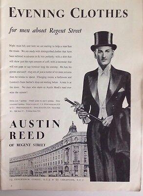 Austin Reed Of Regent Street Evening Clothes 1937 Vintage Advert Original Ebay