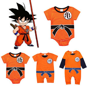 0247a39b93340 Details about Dragon Ball Goku Baby Costume Newborn Infant Boy Clothes  Romper Bodysuit Outfits