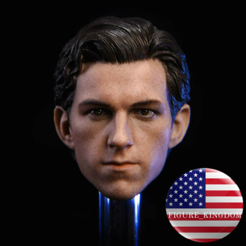1//6 Tom Holland HEAD SCULPT FOR Spider-Man The Avengers Hot Toys PHICEN Figure