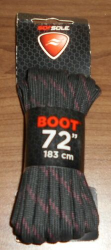 """free shipping from within the USA Sof Sole 72/"""" Waxed Boot Laces Black//Tan .."""