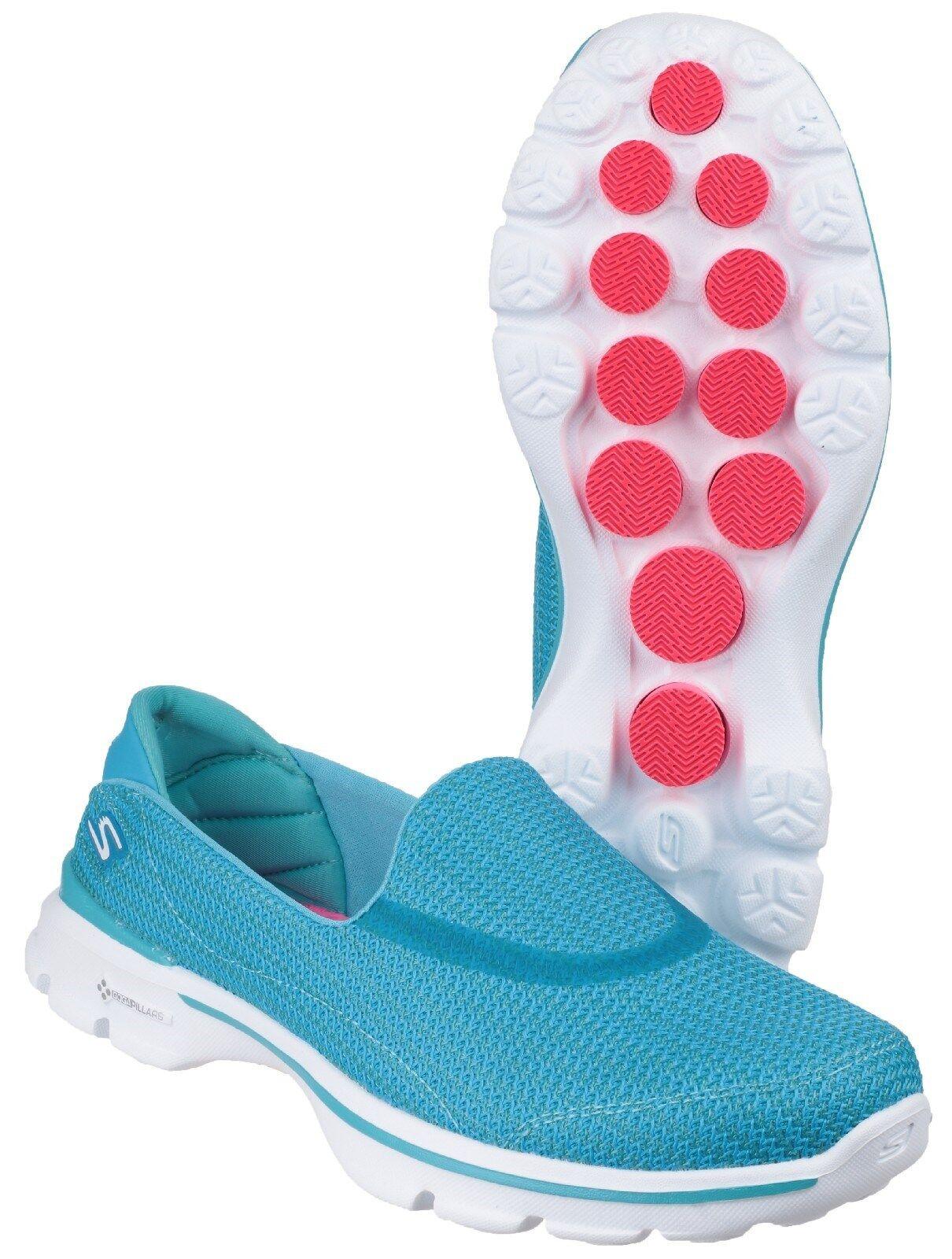 Skechers Go Walk Knit 3 Slip On Damenschuhe Memory Foam Knit Walk Trainers Schuhes UK3-8 8fe46f