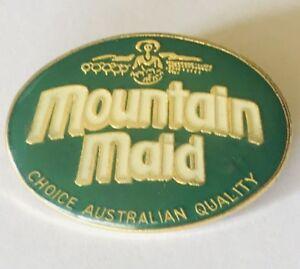 Mountain-Maid-Brand-Australian-Advertising-Drink-Pin-Badge-Rare-Vintage-H4