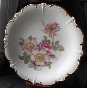 vntg schumann arzberg bavaria germany wild rose 12 d serving plate chop plate 2 ebay. Black Bedroom Furniture Sets. Home Design Ideas