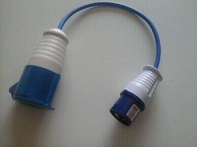 "16AMP plug to 32AMP 240V socket.HOOK UP,,12/"" flylead /""THE BEST BUY ON E-BAY../"""