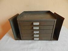"""Boite / meuble de bureau en métal """" Gispen Culemborg """"  (déco Loft / Indus.)"""