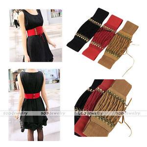 2429d0e430 Fashion Women Lace Up Corset Style Cinch Wide Band Cinch Belt for ...