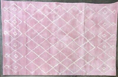 Pottery Barn Kids Light Pink Hadley Wool 5x8 Rug Ebay