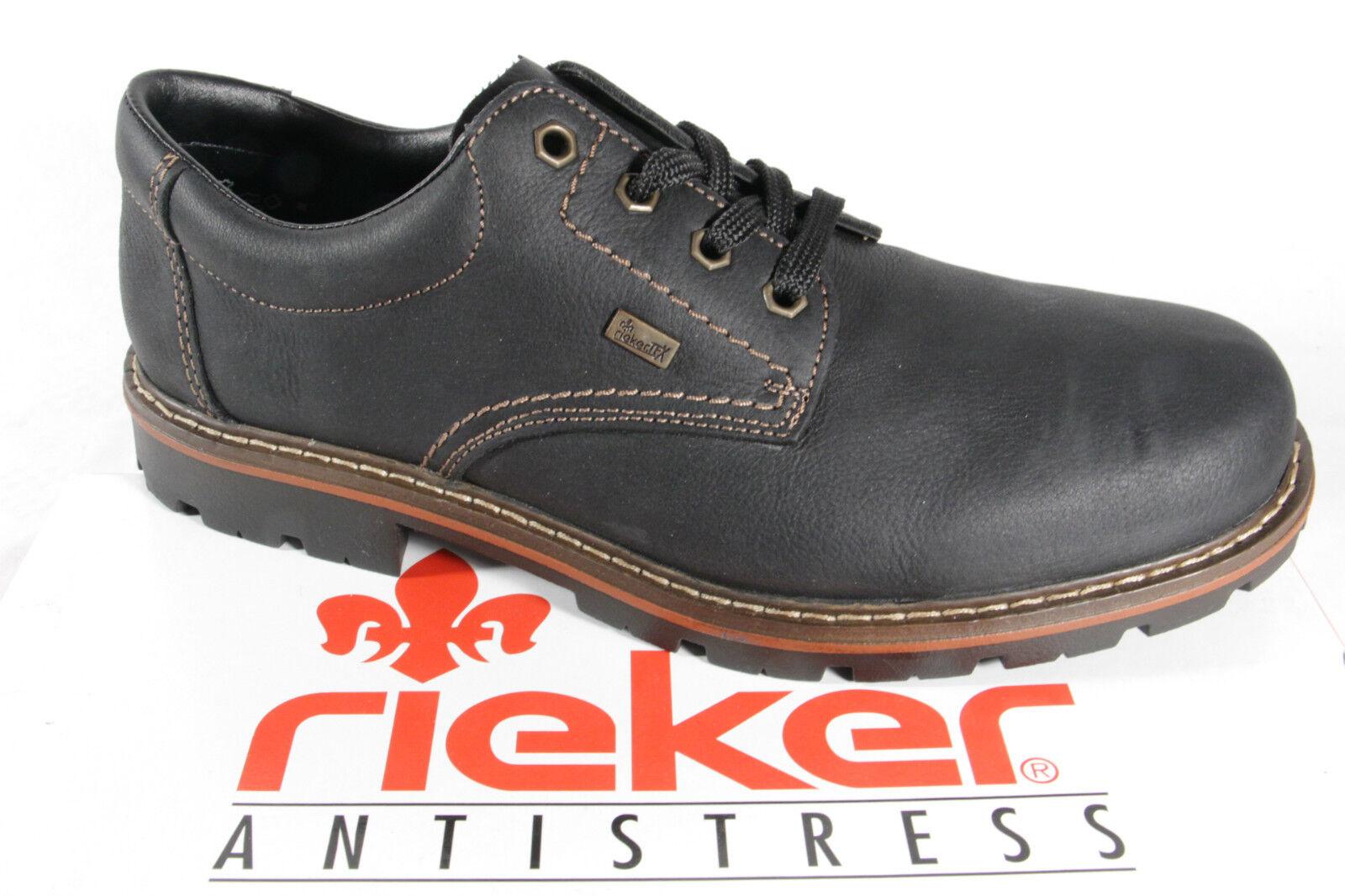 Rieker TEX Schnürschuhe Sneakers Halbschuhe schwarz, wasserdicht NEU