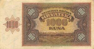 CROATIA 1000 KUNA 1941 VF-XF  .....3pcs