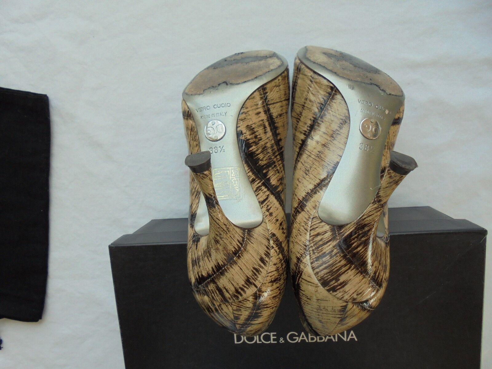Dolce&Gabbana Lackleder Pumps NP  Heel wNEU D&G Schuhe High Heel  Pumps 38 38,5 39 539d28