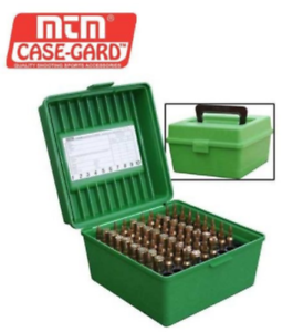 MTM 100 ROUND DELUXE RIFLE AMMO BOX R-100-MAG Hunting Gun Outdoor Ammunition NU