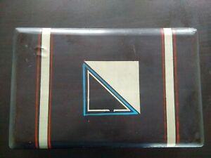 Rare art deco box japan made in japan decor wood lacquered lacquer géometrique