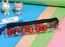 Hello Kitty POUCH Case Bag Zippered Cosmetic BLACK US Seller Pencil Bag KAWAII