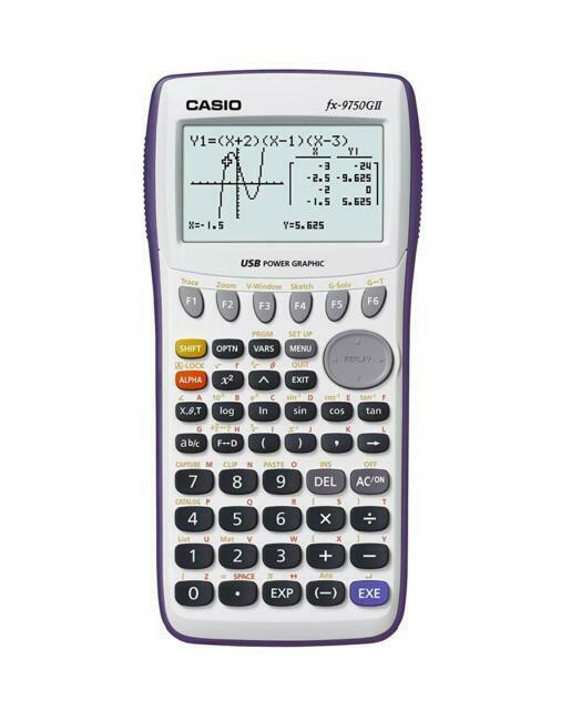 Casio FX-9750GII Graphing Calculator - Blue