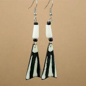 Africa-Handmade-Jewelry-Batik-Mud-Cloth-Zebra-Print-Bone-Earring-MM-649-48