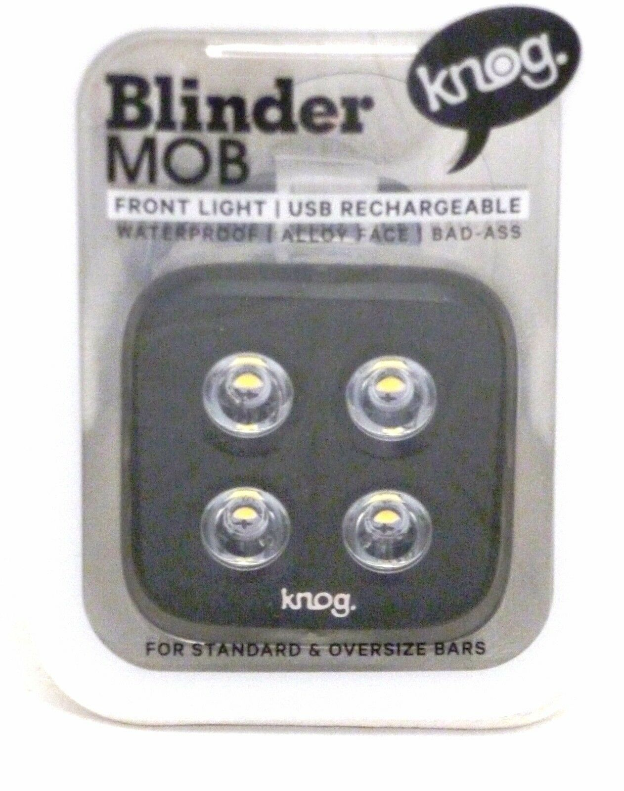 Knog Blinder MOB TheFace 4 Dot USB Rechargeable