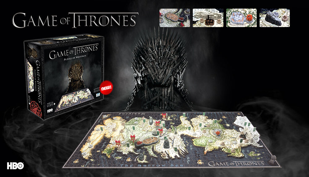 GAME OF THRONES 4D Cityscape Map of Westeros 1400pcs 3D PUZZLE NEW