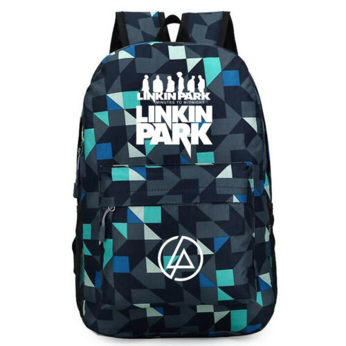 Newest Linkin Park 3D Print School Bags Students Bags Women Men Daily Backpack