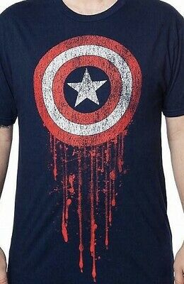 MARVEL CAPTAIN AMERICA Since 1941  T-Shirt camiseta cotton officially licensed