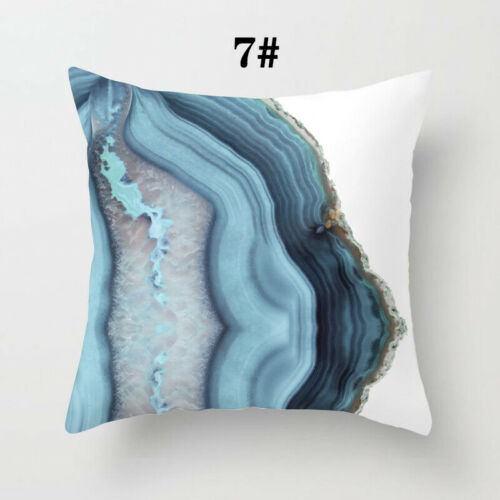 1pc Sofa Square Throw Cushion Cover Pillowcase Blue Car Home Decor New