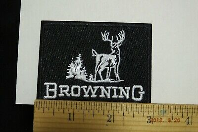 """Browning Rifles and Shotguns Pistols Firearms Embroidered Iron-On Patch 3x2.25/"""""""