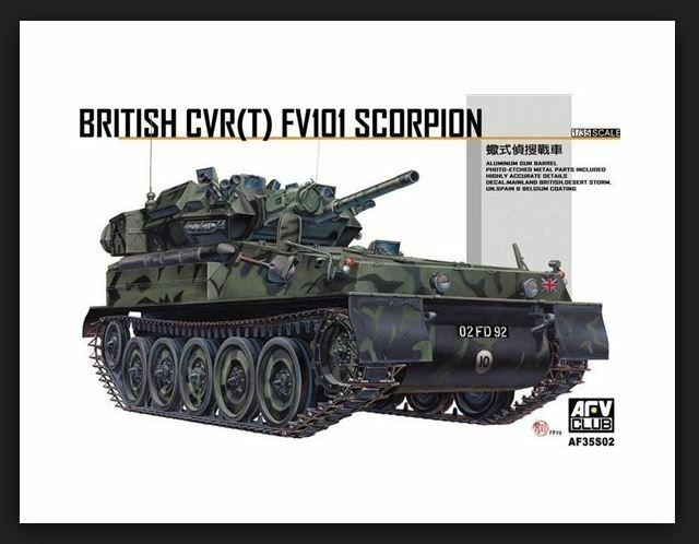AFV CLUB 35S02 1 35 BRITISH CVR(T) FV101 SCORPION MODEL KIT