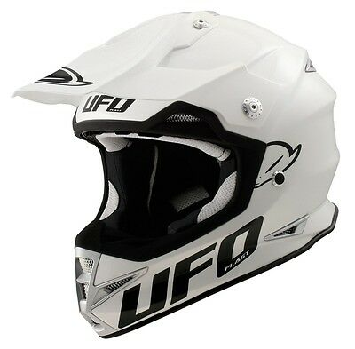 UFO Warrior H1 Base Advanced Helmet- Motocross Enduro- Solid White/ Adult XL