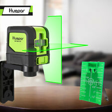 Huepar Green Laser Level DIY Cross Line Laser Self Leveling 9011G Bright Green