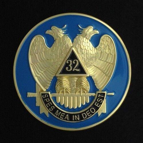 Masonic 32nd Degree Car Auto Emblem (light Blue) Sra-1 For