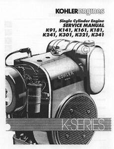 kohler k141 k241 k301 k321 k341 k engine service manual ebay rh ebay com Kohler K301 Crankshaft Kohler K301 Crankshaft
