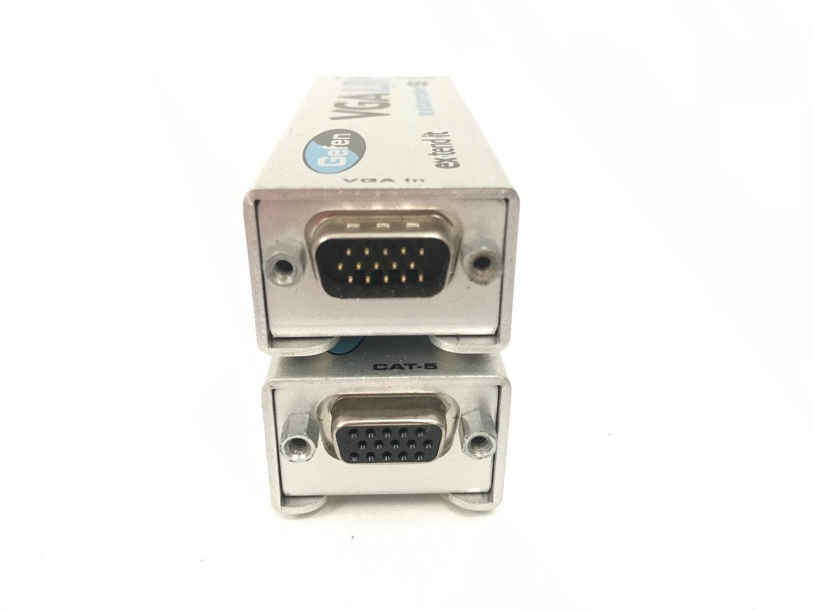 Gefen VGA Extender LR EXT-VGA-141LR Sender Receiver w// VGA Cable /& Power Supply