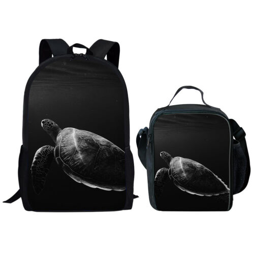 Horse Tortoise Sloth Boys School Bags Backpack Lunch Bag Womens Travel Rucksack