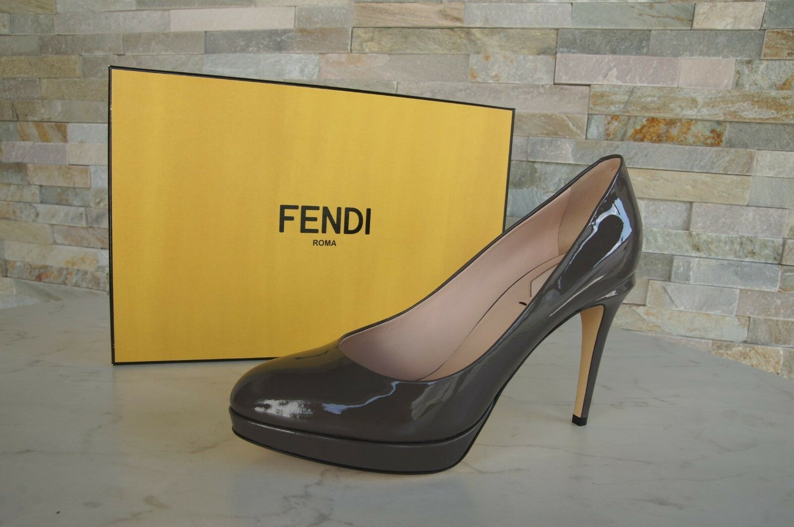 Luxury FENDI size 36 Pumps Platform High Heels shoes shoes Carbon New formerly