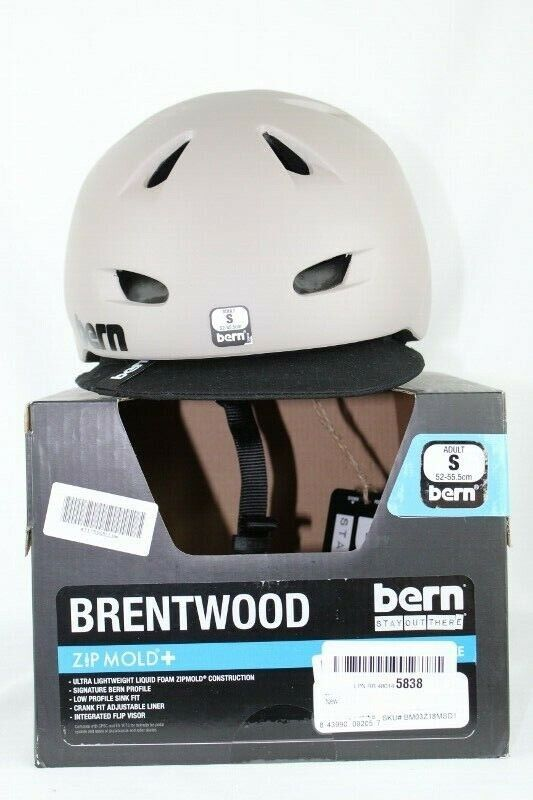 Bern Brentwood Zip Mold Cycling Helmet Matte Sand Size Small 52 - 55.5 cm NEW