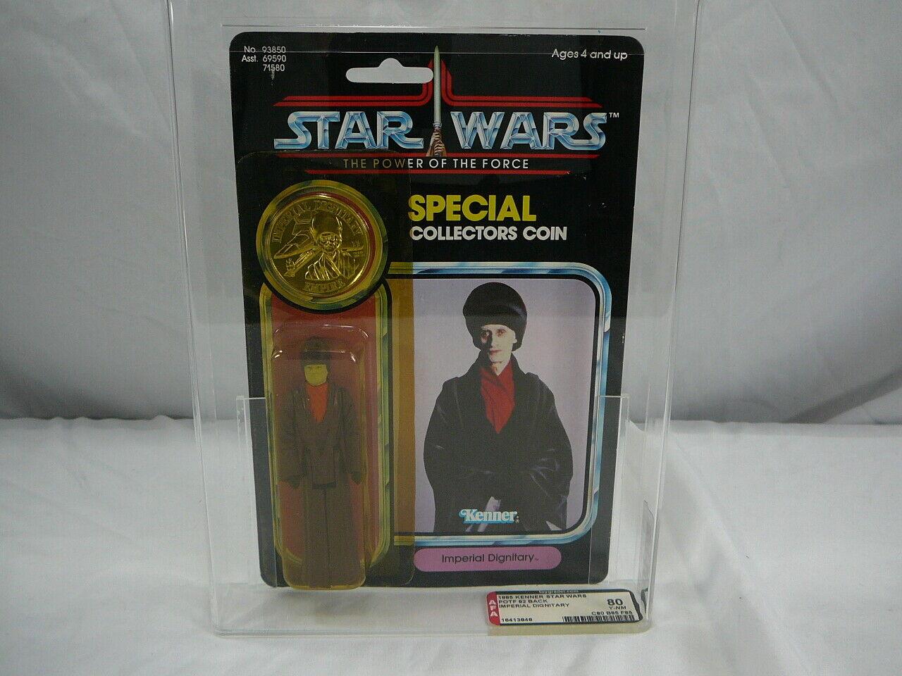 Kenner Star Wars Imperial dignatario poder de la fuerza 1985 menta en tarjeta sellada de fábrica autoridad Figura de Acción 80 Rara