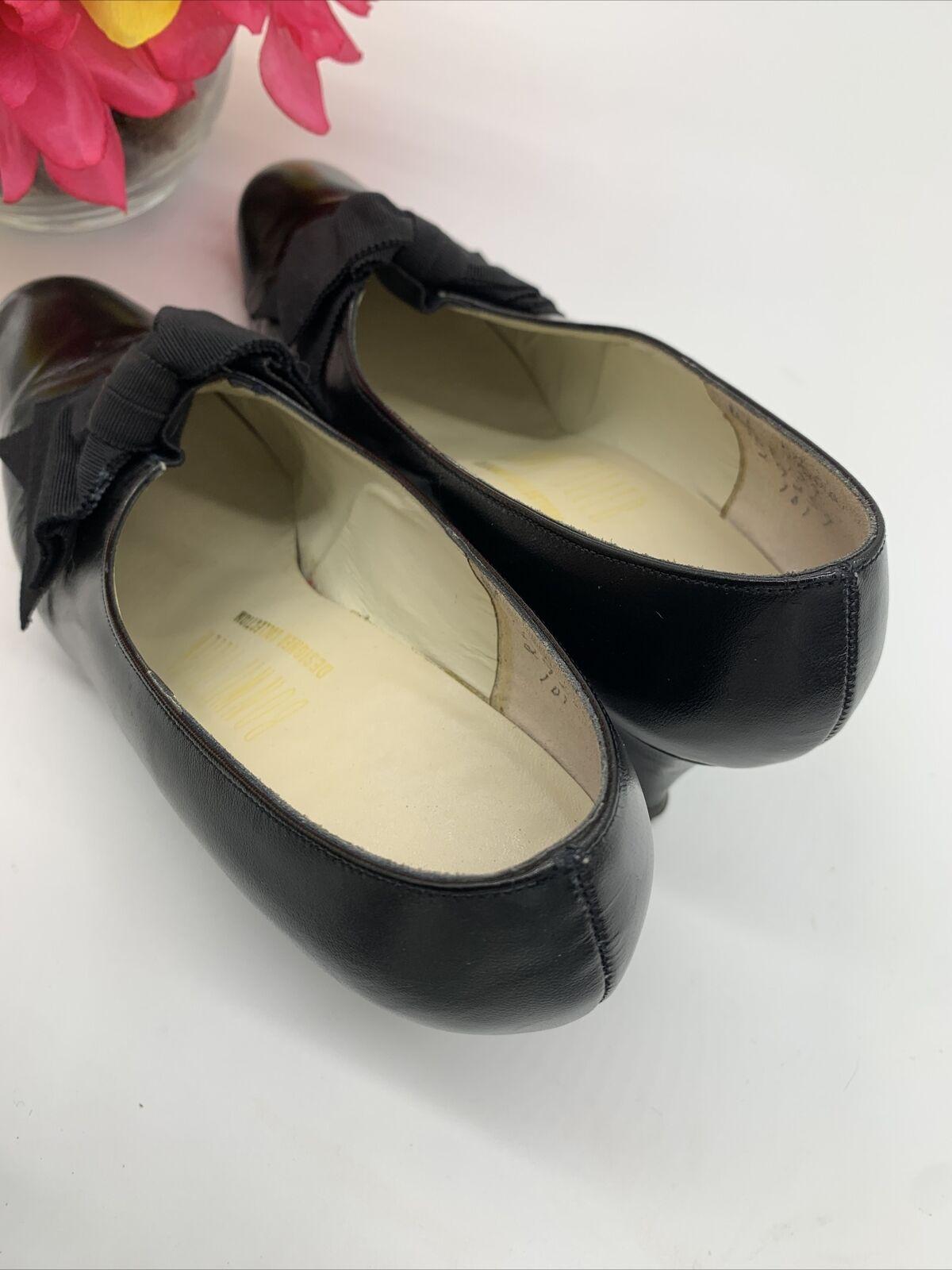 Antique Edwardian Bonwit Teller Black Leather Sho… - image 8