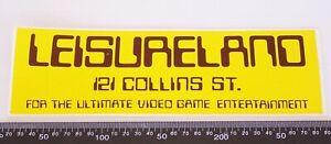 VINTAGE-LEISURELAND-121-COLLINS-ST-MELBOURNE-VIDEO-GAME-ARCADE-SOUVENIR-STICKER