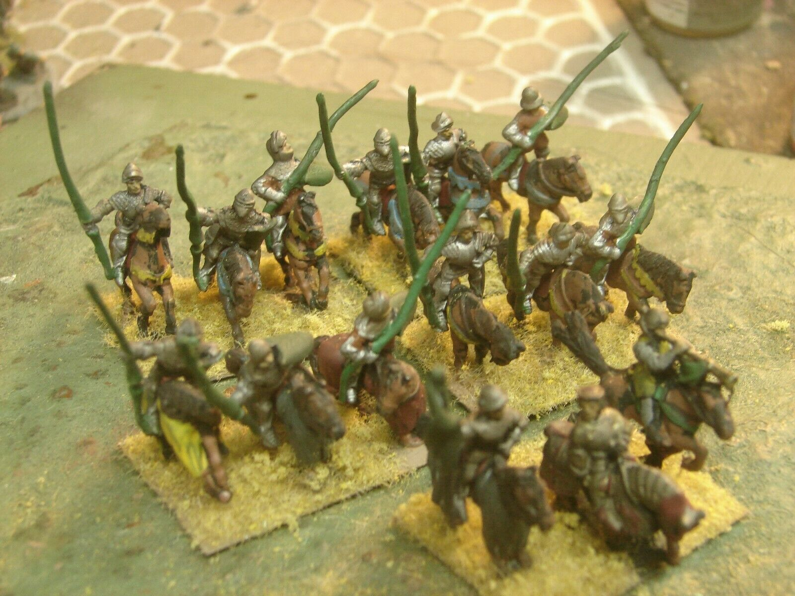 15mm Handpainted DBA 100 Years War Free Company Knights with Command (15)