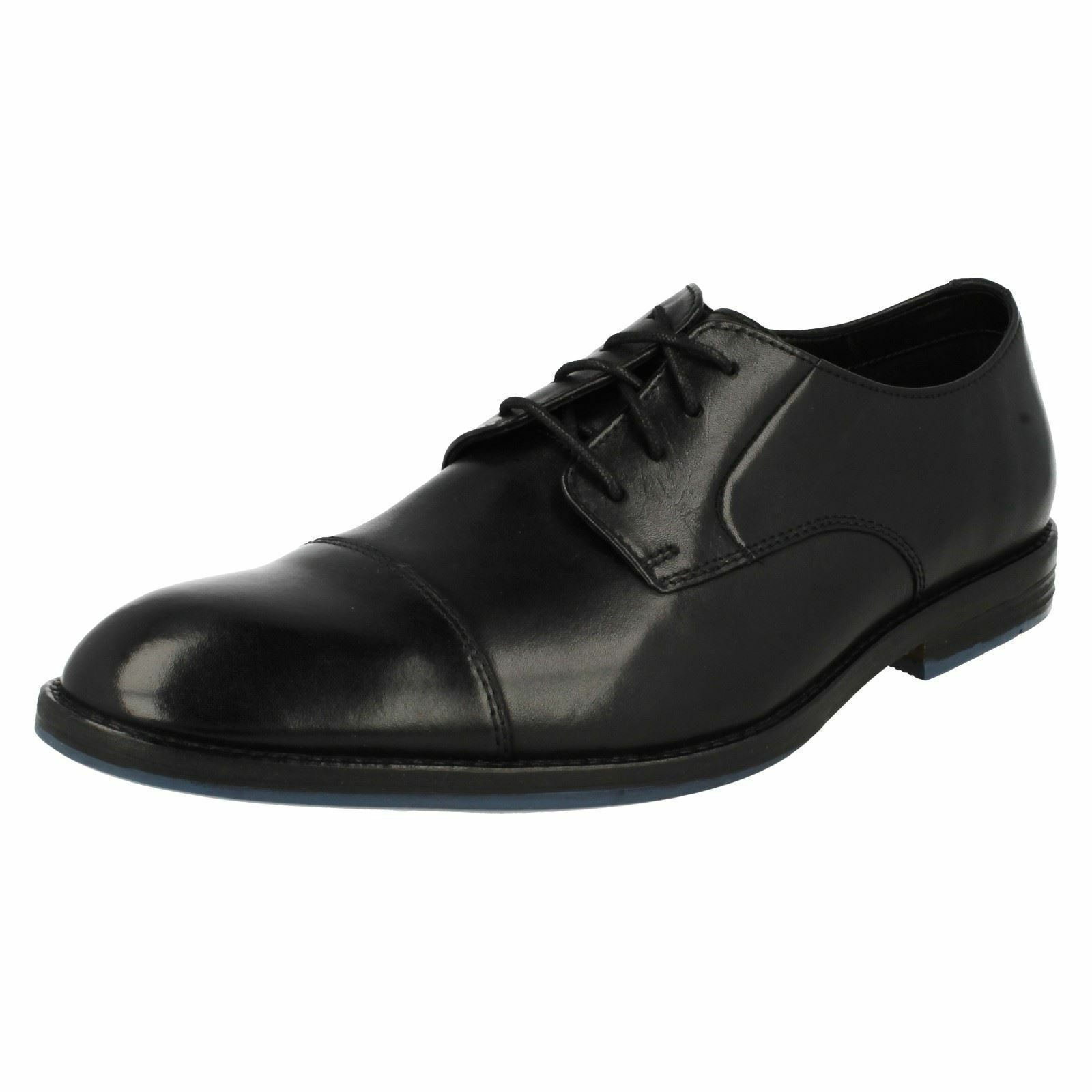 MENS CLARKS TOE CAP LEATHER SMART FORMAL PARTY LACE UP SHOES SIZE PRANGLEY CAP
