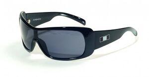 CASCO SX-60 Sportbrille, Fahrrad, Bike, Sonnenbrille, Schwarz, Graue Gläser