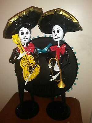 Catrin Day Of The Dead Paper Mache Mariachi Ebay