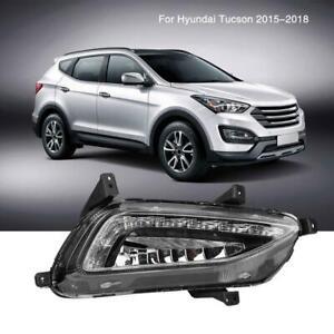 2x-LED-Daytime-Running-Light-DRL-Fog-Lamp-For-Hyundai-Tucson-2015-2016-2017-2018
