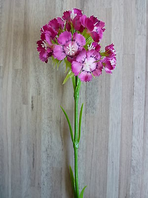 Bartnelke Nelke Seidenblume Kunstblume Kunstpflanze 42 cm weiß 181739 F11