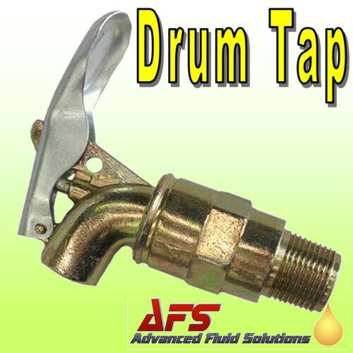 Barrel Fitting Oil Diesel Drum Plastic Tap Steel *Lockable Self-Closing* Spout