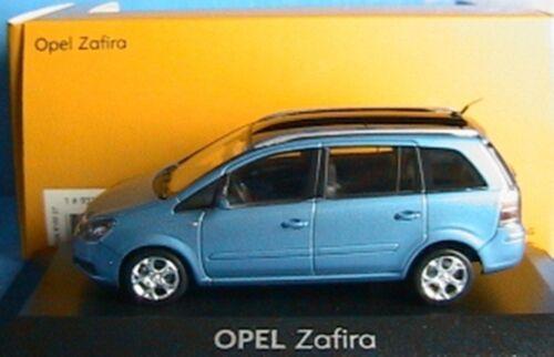 OPEL ZAFIRA 2 2006 LIGHT BLUE METALLIC MINICHAMPS 1//43 PHASE II DIE CAST METAL