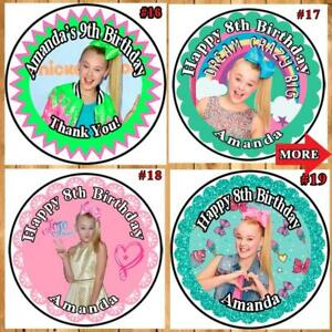 image is loading jojo siwa birthday stickers round favor labels 1